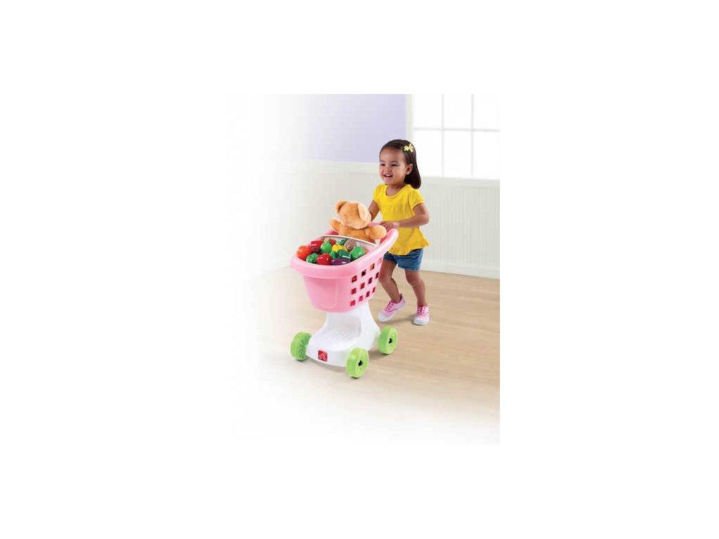detsky nakupni vozik ruzovy 708500