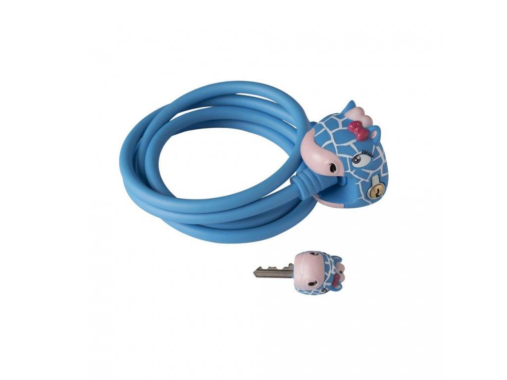zamek na kolo crazy safety modra zirafa 4855