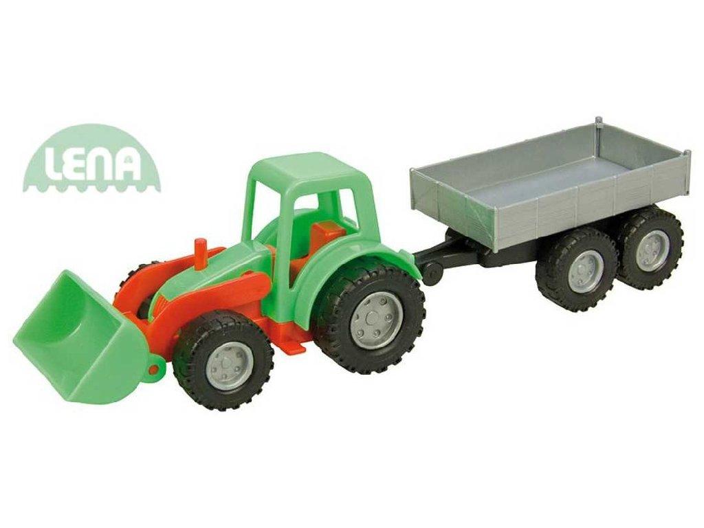 LENA Traktor mini Compact s přívěsem (auto na písek)