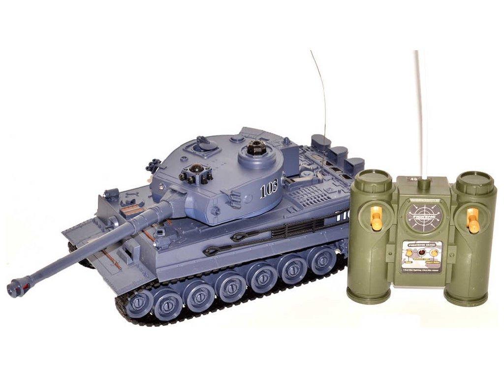 RC Tank s dělem 35cm 40MHz na vysílačku na baterie Světlo Zvuk