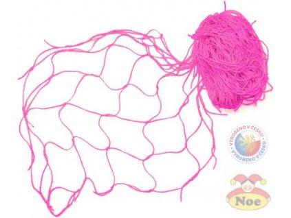 NOE Síť dekorační Růžová na aranžování 5 x 1m na zavěšování hraček