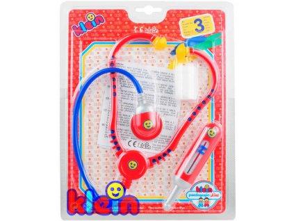 KLEIN Doktorka set stetoskop s doplňky dětské lékařské potřeby na kartě