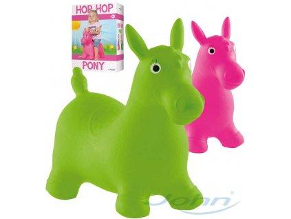 JOHN Hopsadlo nafukovací skákací zvířátko koník 55x50x25cm 2 barvy plast