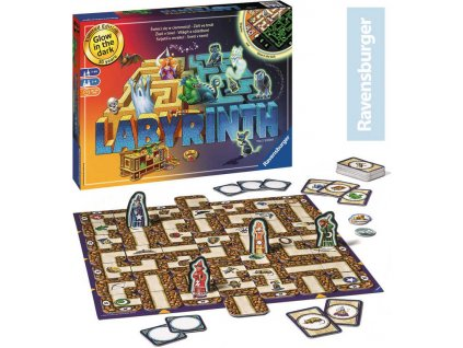 RAVENSBURGER Hra Labyrinth (Lybyrint) noční edice svítí ve tmě *SPOLEČENSKÉ HRY*