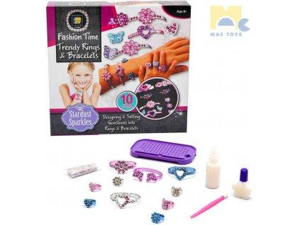 MAC TOYS Výroba náramků a prstýnků kreativní set dětská bižuterie