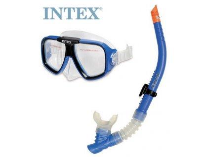 INTEX Set dětský potápěčský modré brýle + šnorchl do vody 55948