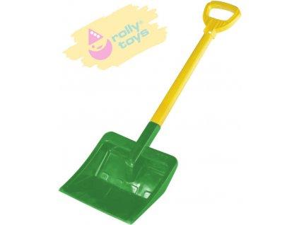 ROLLY TOYS Lopata pro děti na sníh 71cm plastové hráblo T ručka zelené