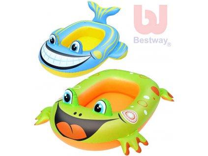 BESTWAY Člun dětský nafukovací zvířátko 2 druhy do vody