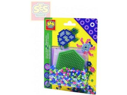 SES CREATIVE Korálky zažehlovací set s podložkou šestiúhelník