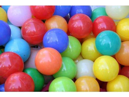 LUDI Míčky různé barvy 75 ks Sada v tašce Různobarevné