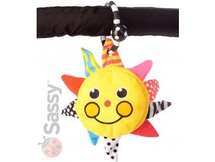 SASSY Baby sluníčko 13x13cm se zrcátkem na baterie Světlo pro miminko