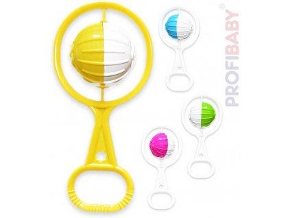 PROFIBABY Chrastítko koule retro plastové pro miminko 2 barvy