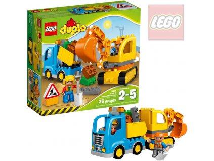 LEGO DUPLO Pásový bagr a náklaďák 10812 STAVEBNICE
