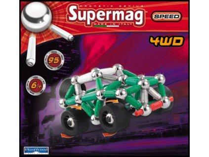SUPERMAG 4WD 95 dílků * MAGNETICKÁ STAVEBNICE *