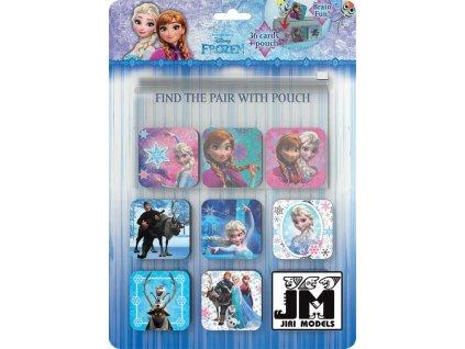 JIRI MODELS Pexeso s kapsou na kartičky Ledové Království (Frozen)