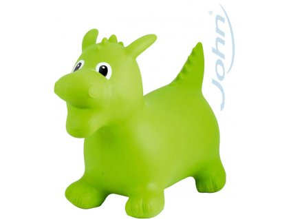JOHN Hopsadlo nafukovací skákací zvířátko dráček 55x50x25cm zelená plast