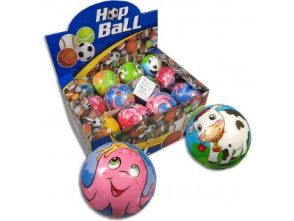 Míček pěnový zvířátka 8cm soft balonek s potiskem 5 druhů