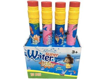 Pumpa vodní dělo pastelka s rozstřikovačem na vodu plast