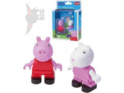 BIG PlayBig Bloxx prasátko Peppa Pig + Suzy set 2 figurky doplněk ke stavebnici plast