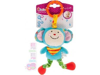 ET BAM BAM Baby vibrující přítel Opička pro miminko *PLYŠOVÉ HRAČKY*