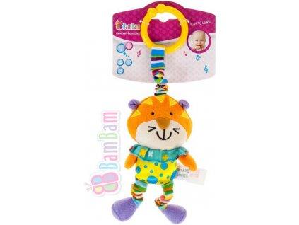 ET BAM BAM Baby vibrující přítel Tygr pro miminko *PLYŠOVÉ HRAČKY*
