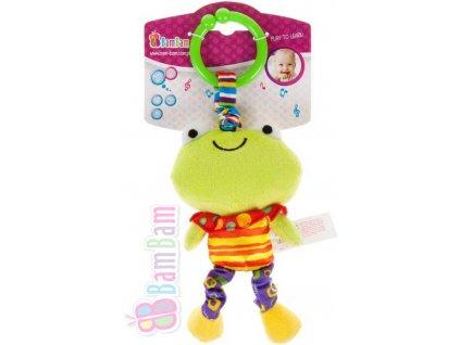 ET BAM BAM Baby vibrující přítel Žabka pro miminko *PLYŠOVÉ HRAČKY*