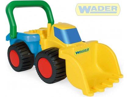 WADER Bagr 44cm stavební auto na písek volný chod plast
