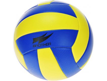 Brother míč volejbalový 270g šitý č.5 žlutomodrý v sáčku