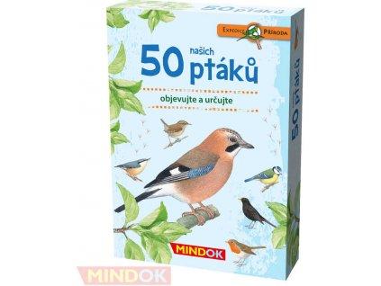 MINDOK HRA kvízová Expedice Příroda: 50 našich ptáků naučná