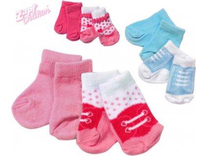 ZAPF BABY BORN set 2 páry ponožek pro panenku 43 cm 3 druhy