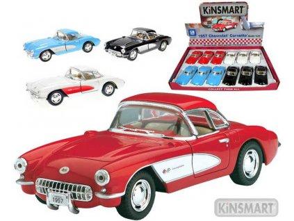 KINSMART Auto model 1:34 CHEVROLET CORVETTE 1957 kov PB 12,5cm 4 barvy