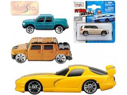 MAISTO Auto kovové model různé druhy a značky na kartě 15099