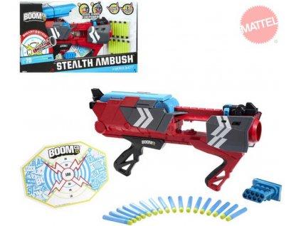 MATTEL Pistole BC Boomco STEALTH ABBUSH Set Terč + 17 šipek