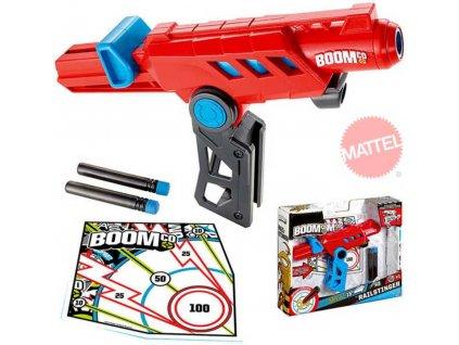 MATTEL BOOMCo plastová pistole Rail Blast set 3 šipky a terč