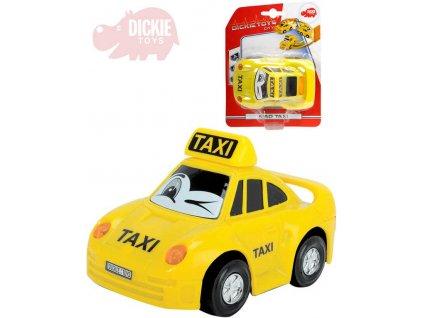 DICKIE Autíčko Mad Taxi 12cm narážecí s očima se světlem plast