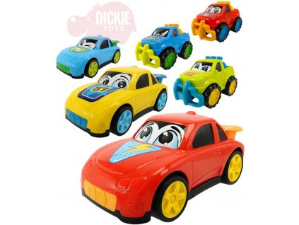 DICKIE Auto Happy Runner 27cm autíčko plastové s očima 6 druhů