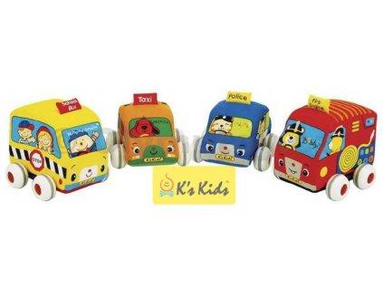 K´S KIDS látková auta s natahovacím pohonem