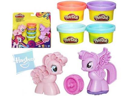 HASBRO PLAY-DOH Razítka MLP My Little Pony set 4 kelímky a 2 poníci