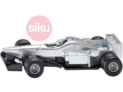 SIKU Formule sport car racer 8cm stříbrné auto model kov 0863
