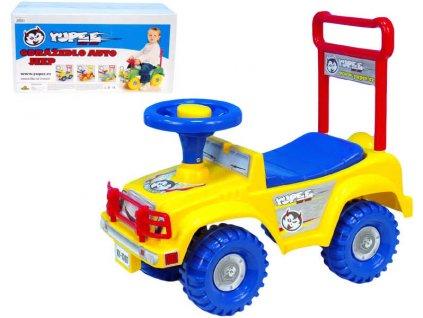 Odrážedlo auto jeep YUPEE žluté Odstrkovadlo PLAST