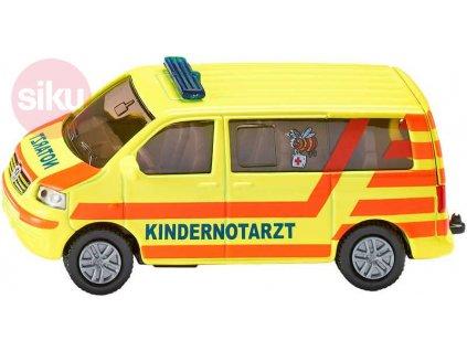 SIKU VW Transportér ambulance model 1462 sanitka KOV