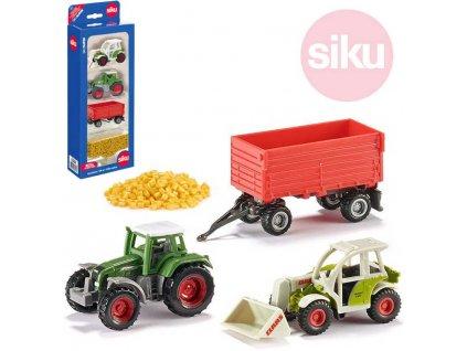SIKU Set zemědělská vozidla + prkna