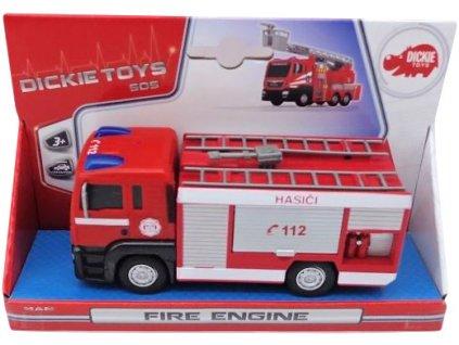 DICKIE Auto Man SOS Fire Engine hasiči 17cm plastové