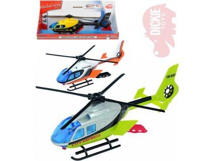 DICKIE Helikoptéra záchranářská 24cm Airbus s nosítky funkční vrtule 3 druhy