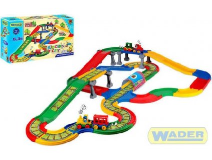 WADER Kid cars Železnice + Auto dráha *Mašinka*Koleje*Vagónek 6,3 m