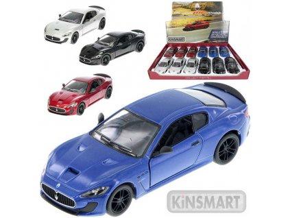 KINSMART Auto model 1:38 Maserati GranTurismo MC Stradale kov 13cm PB 4 barvy