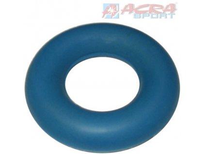 ACRA Kroužek posilovací pryž silič prstů modrý
