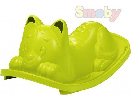 SMOBY Baby houpačka Kočička zelená houpadlo pro nejmenší plast