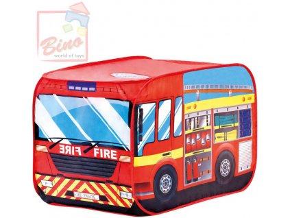 BINO Stan dětský Hasičské auto červený zadní vchod s okýnkem na střeše