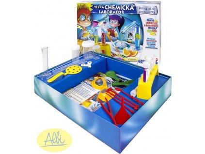 ALBI HRA Velká chemická laboratoř experimentální sada v krabici